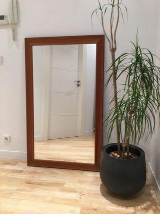 Espejo 75x125 con borde de madera