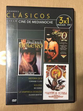 Cine de Medianoche. 3 x 1
