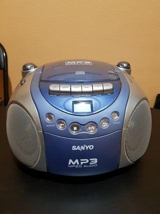 Radio, Cassete y CD SANYO