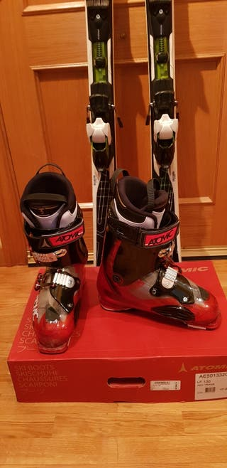 Botas de esquí + esquís