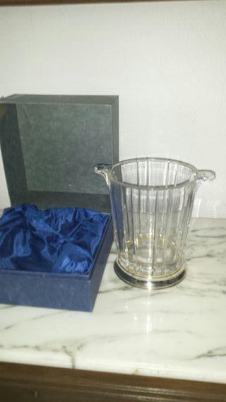 Champanera cristal y plata