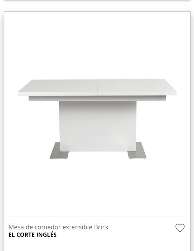 Mesa comedor o cocina lacado blanco de segunda mano por 175 € en ...
