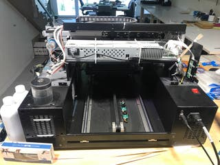 Impresora plana UV LED A3 no imprime blanco