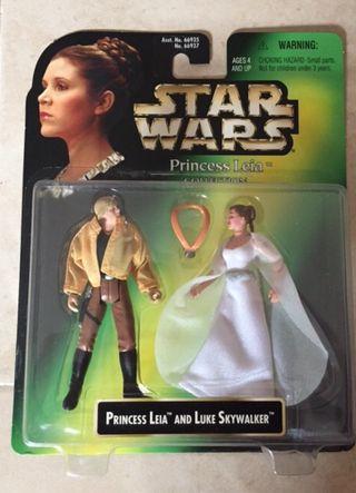Figura Leia & Luke - Star Wars - Kenner