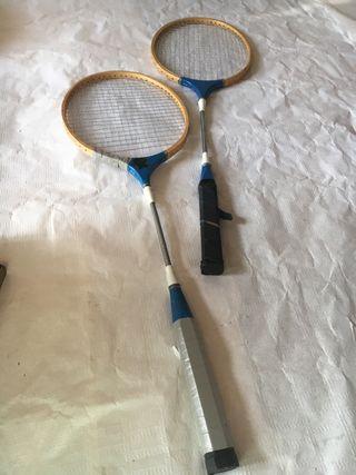 Juego raquetas bádminton