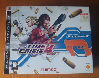 TIME CRISIS 4 + PISTOLA G-CON 3 - (PLAYSTATION 3)