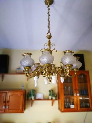 Lámpara de techo de bronce
