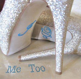 Boda, novia, pegatinas para suelo zapatos