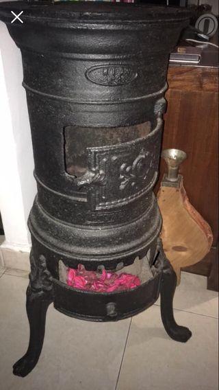 Estufa de hierro leña decoracion