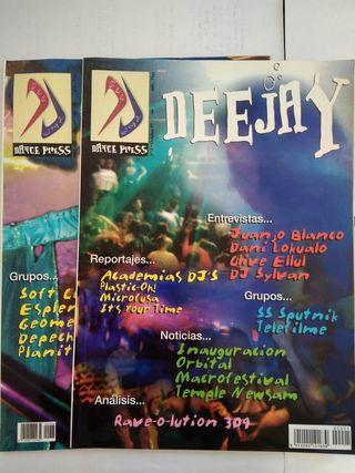 Lote de 2 revistas DEEJAY numero 1 y 2 año 97.