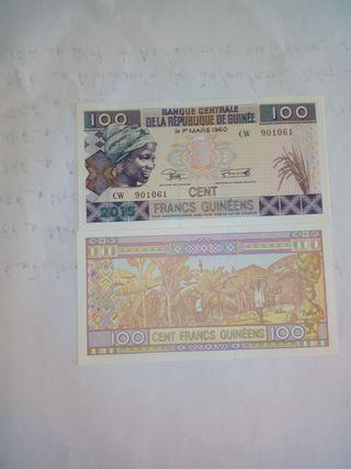 billete de 100 francos de guinea