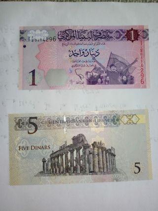 billetes de libia
