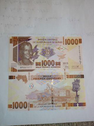 billete de 1000 francos de guinea