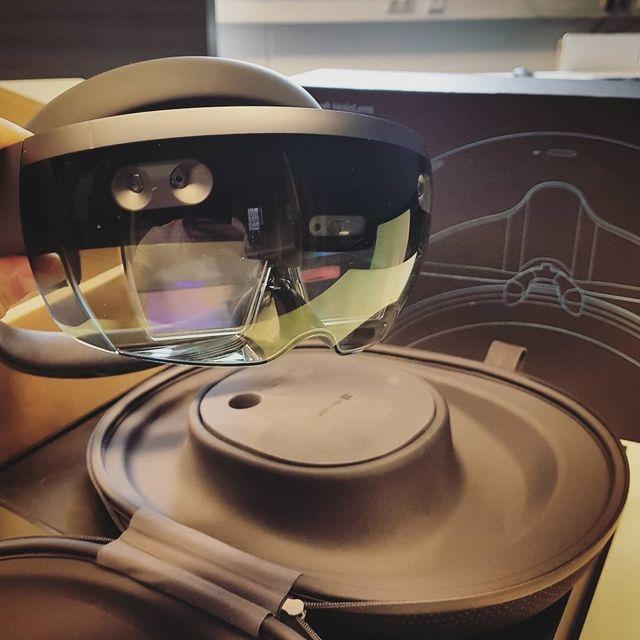 La edición de desarrollo de Microsoft HoloLens.