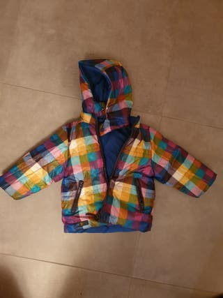 chaqueta boboli reversible 18 meses