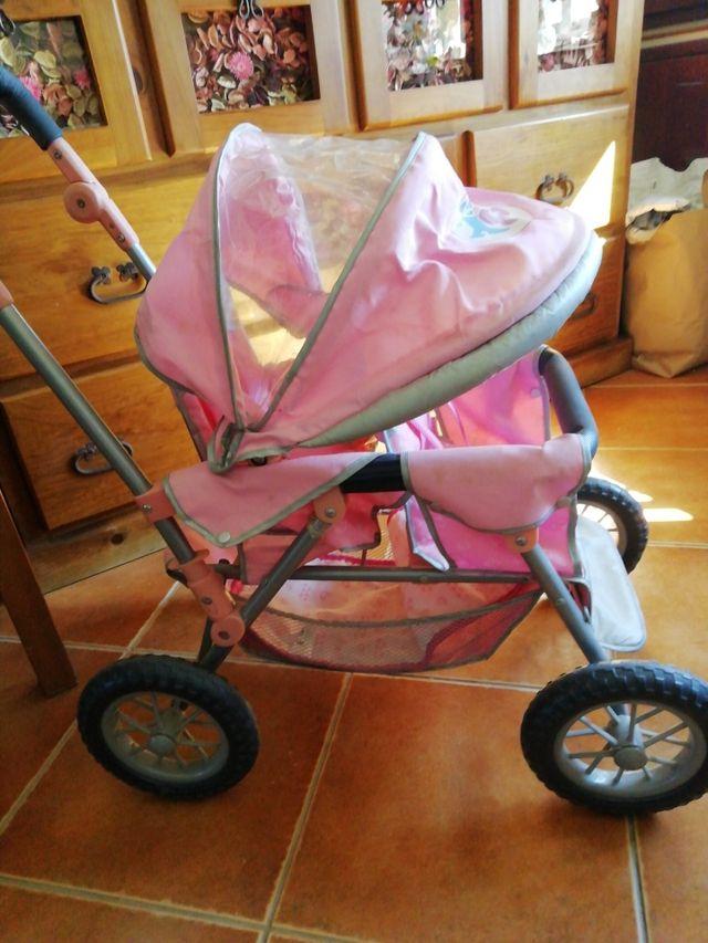 Carro gemelar de juguete baby born
