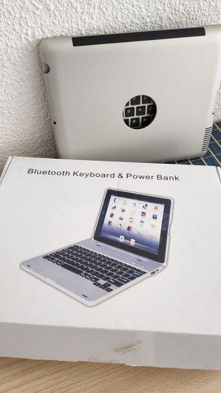 teclado bluetooth para IPAD y powerbank