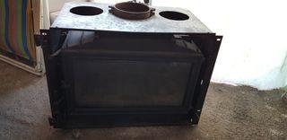 estufa de leña jotul hierro fundido