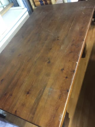 Mesa madera maziza + 6 sillas enea
