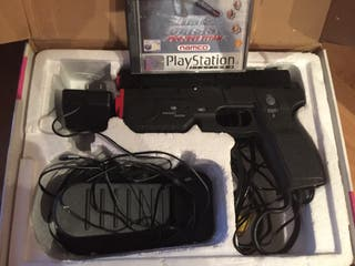 Pistola Ps2 Timecrisis + juego timecrisis