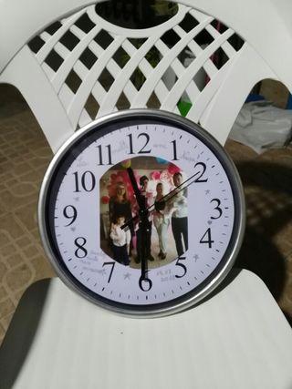 Reloj para pared con foto