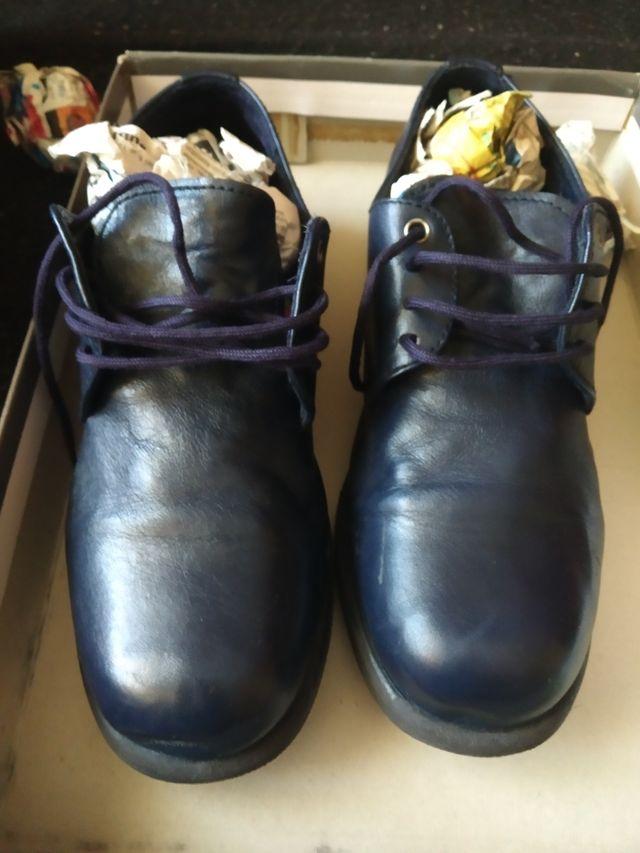 zapato comunion azul