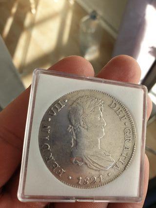 Moneda 8 reales de plata