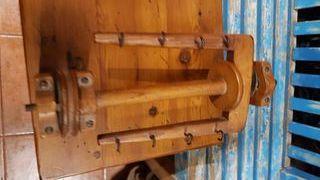 hiladora antigua madera