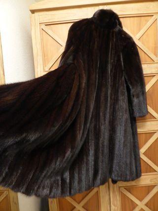 Lujo abrigo piel lomos visón L XL 42 44 Impecable