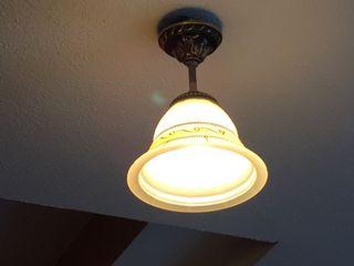 2 Lámparas aplique de techo color bronce