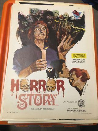 Carteles cine terror horros story panico