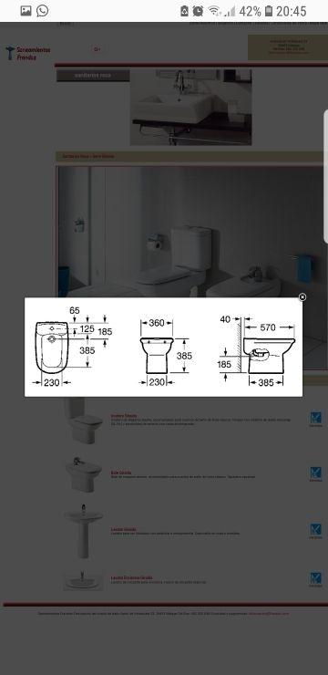 Inodoro bidet y lavabo roca giralda de segunda mano por 50 - Inodoro y lavabo en uno ...