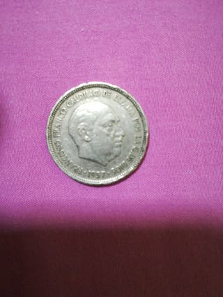 moneda d 5 peseta año 1957