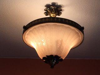 Lámpara de techo color bronce