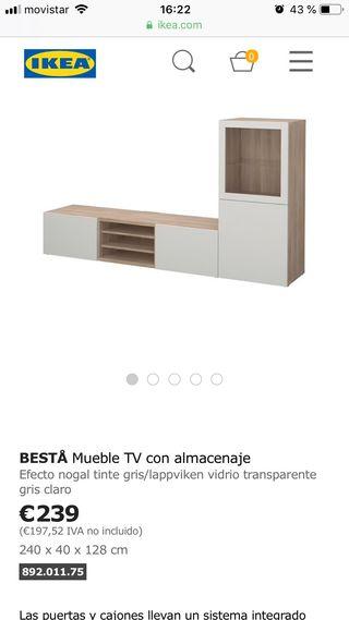 Mueble tv IKEA besta televisión salón
