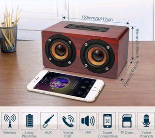 NUEVO Altavoz Bluetooth Retro Portatil