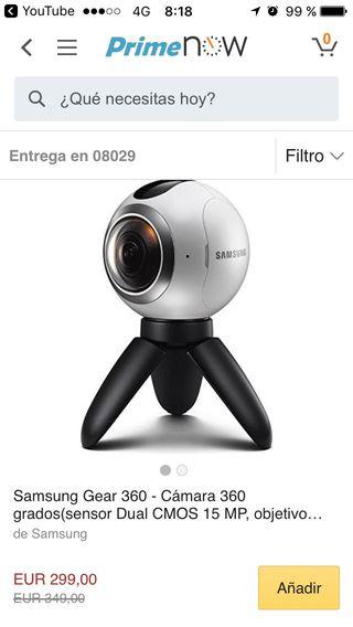 Vídeo cámara 360 Samsung