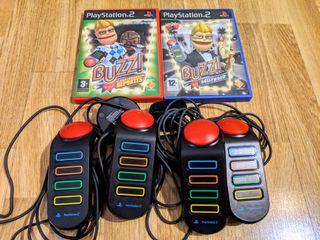 Juego Play Station 2 Buzz + mandos 4 players