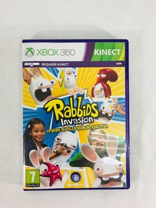 Juego rabbids invasión Xbox 360.