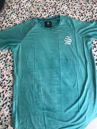 Camiseta siksilk turquesa