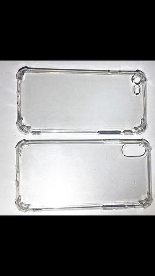 Coque en silicone transparent a coin renforcé