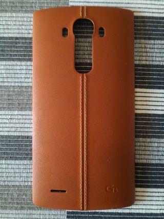 Tapa trasera de cuero marrón LG G4