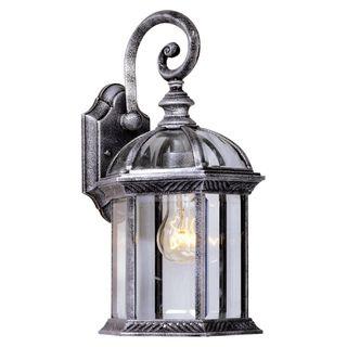 Lámpara aplique exterior negro plata OFERTA