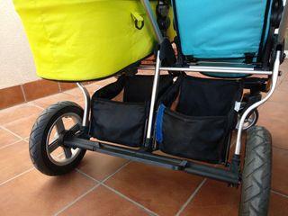 Carrito / cochecito gemelar Firstwheels (5 piezas)