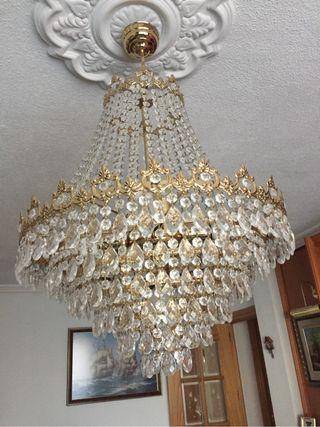 Lámpara cristal salón