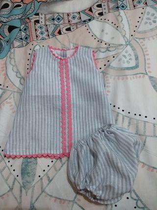 vestido bebé reborn artesano