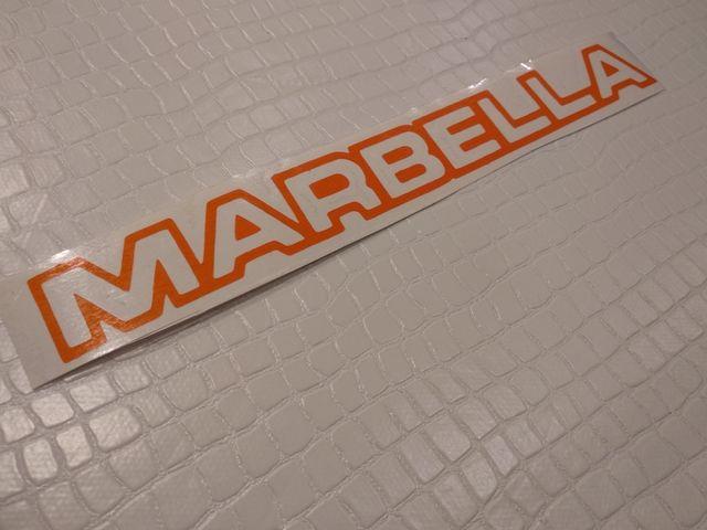 pegatina maletero seat marbella