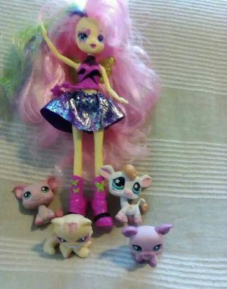 Muñeca y mascotas Pet shop