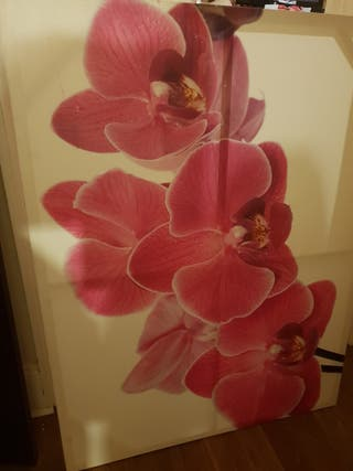 Wall frame picture with flowers