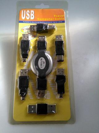 Conjunto conectores Smartphone , Camara ,Portatil